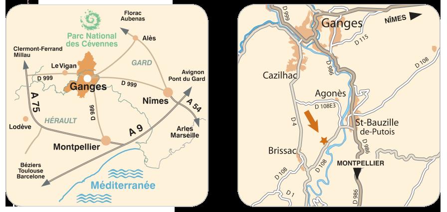 Vignoble du domaine d'Anglas - Plan d'accés