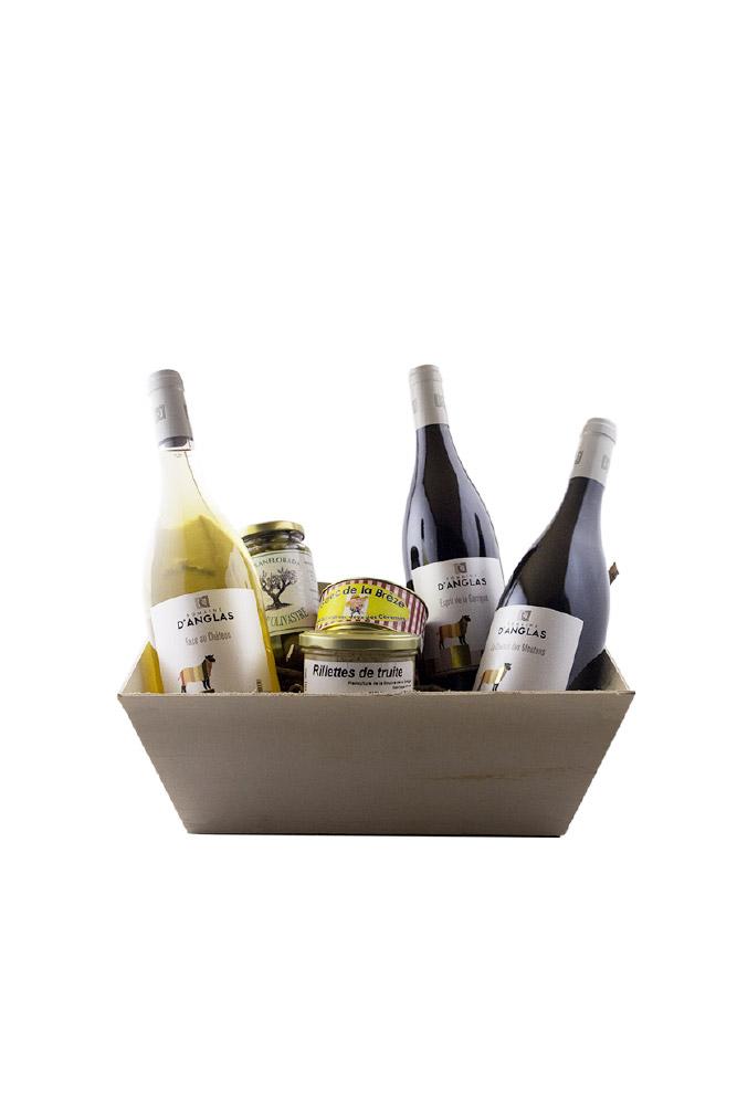 Panier terroir du vignoble du Domaine d'Anglas - Achat Vente de vin